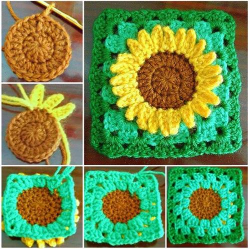12 Diy Crochet Sunflower Pattern